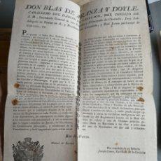 Militaria: BLAS DE ARANZA. BARCELONA 1800. Lote 169118938