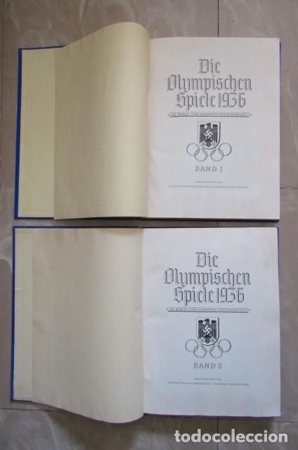 Militaria: 2 antiguos álbumes de cromos alemán editado en el III reich Olimpiadas Berlín Juegos Olímpicos 1936 - Foto 2 - 169221904