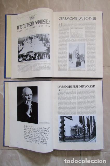 Militaria: 2 antiguos álbumes de cromos alemán editado en el III reich Olimpiadas Berlín Juegos Olímpicos 1936 - Foto 4 - 169221904