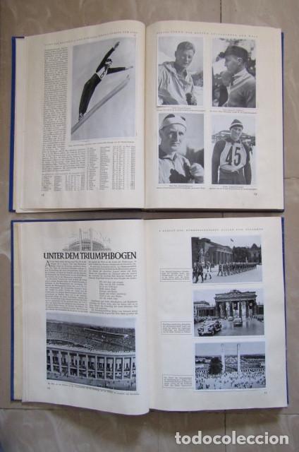 Militaria: 2 antiguos álbumes de cromos alemán editado en el III reich Olimpiadas Berlín Juegos Olímpicos 1936 - Foto 6 - 169221904