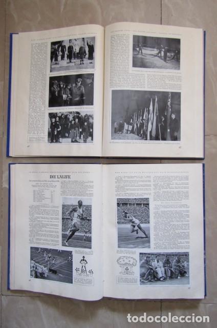 Militaria: 2 antiguos álbumes de cromos alemán editado en el III reich Olimpiadas Berlín Juegos Olímpicos 1936 - Foto 7 - 169221904