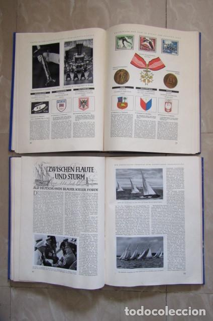 Militaria: 2 antiguos álbumes de cromos alemán editado en el III reich Olimpiadas Berlín Juegos Olímpicos 1936 - Foto 9 - 169221904