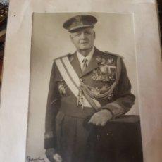 Militaria: FOTO DEL TENIENTE GENERAL Y MINISTRO ANTONIO BARROSO DEDICADA. Lote 169311352