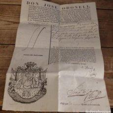 Militaria: VALLADOLID, 1830, PASAPORTE CONCEDIDO A TENIENTE CORONEL PARA VIAJAR A SEPULVEDA, SEGOVIA. Lote 169401464