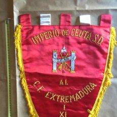 Militaria: LA LEGIÓN, BANDERIN RECUERDO PARTIDO DE FUTBOL, EQUIPO IMPERIO DE CEUTA. Lote 169455652