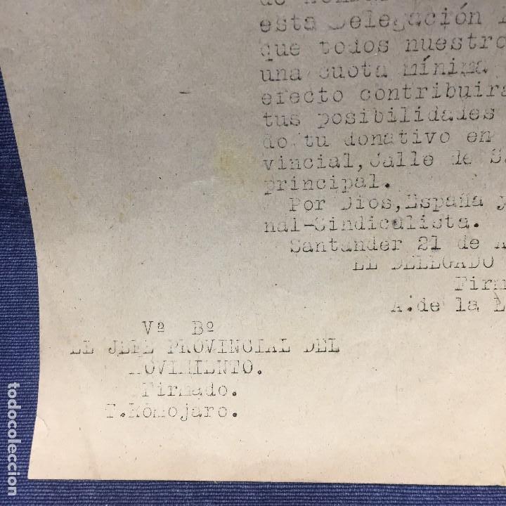 Militaria: saludo a franco arriba españa falange española tradicionalista y de las jons hermandad cautivos 1941 - Foto 3 - 169475208