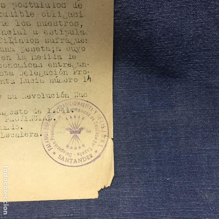 Militaria: saludo a franco arriba españa falange española tradicionalista y de las jons hermandad cautivos 1941 - Foto 4 - 169475208