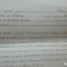 Militaria: ASCENSO A TENIENTE. FIRMA FRANCO Y DAVILA.. Lote 169749820