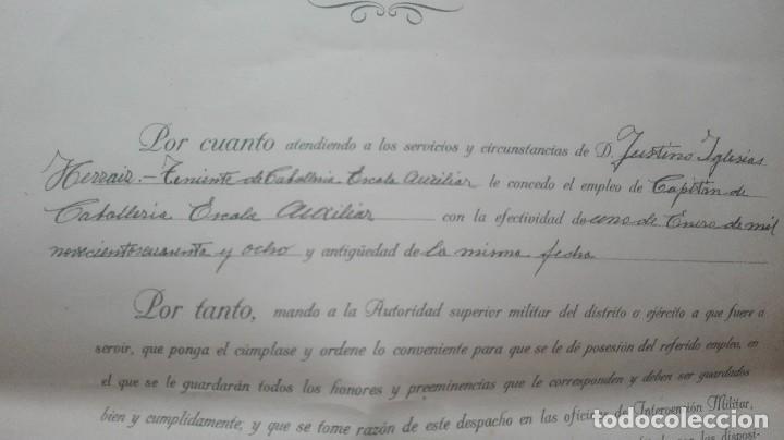 Militaria: ASCENSO A CAPITAN. FIRMA FRANCO Y DAVILA. - Foto 3 - 169754116