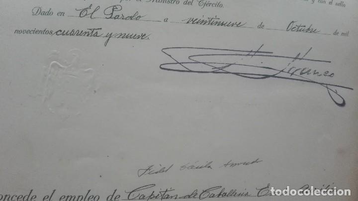 Militaria: ASCENSO A CAPITAN. FIRMA FRANCO Y DAVILA. - Foto 4 - 169754116