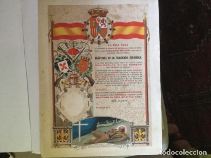 CARTEL DIPLOMA DE LA GUERRA CIVIL CARLISTA (Militar - Propaganda y Documentos)