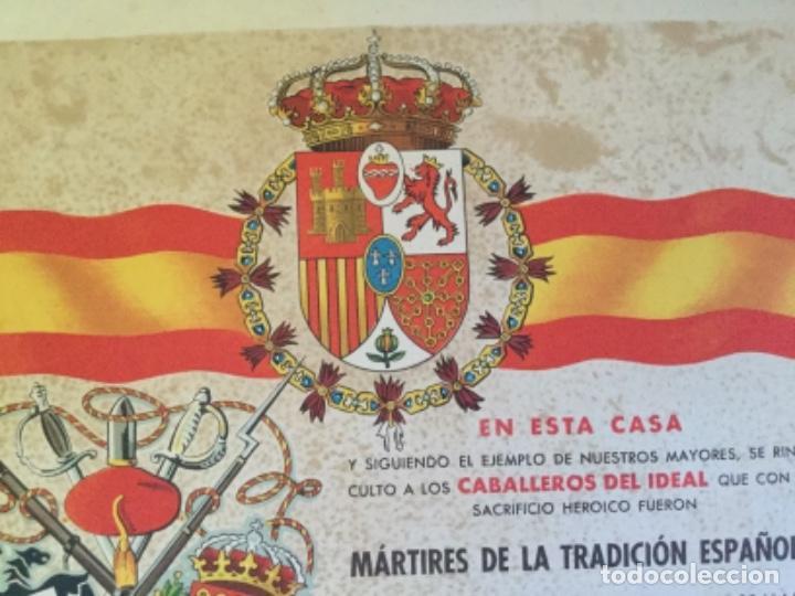 Militaria: CARTEL DIPLOMA DE LA GUERRA CIVIL CARLISTA - Foto 4 - 169756692