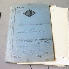 Militaria: CARPETA ORIGINAL CON LA CORRESPONDENCIA DE LA ASOCIACION DE DAMAS DE SAN FERNANDO DE INGEROS. Lote 169872644