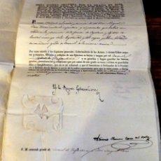 Militaria: 1834,FIRMADO POR LA REINA ISABEL II.NOMBRAMIENTO CORONEL ,MILITAR LUCHA CONTRA LOS CARLISTAS. Lote 170011052