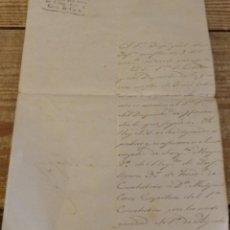 Militaria: VITORIA,1815, COMUNICACION NOMBRAMIENTO SARGENTO MAYOR, MEMBRETE CUERPOS ACANTONADOS GUIPUZCOA, NAVA. Lote 170050460