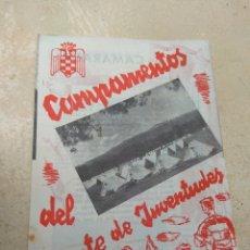 Militaria: CATÁLOGO PUBLICITARIO CAMPAMENTOS FRENTE JUVENTUDES. Lote 170185656