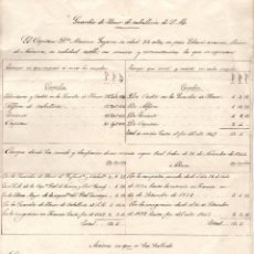 Militaria: HOJA DE SERVICIO A UN MIEMBRO DE GUARDIA DE HONOR DE CARLOS V. REY CARLISTA. Lote 170536340