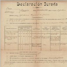 Militaria: CONCESIÓN JURADA - AL QUE SERA COMANDANTE DE LA DIVISIÓN AZUL ARGIMIRO IMAZ ECHEVARRIA. Lote 170537420