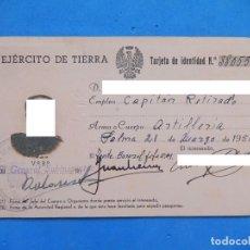 Militaria: CARNET / DOCUMENTO IDENTIFICATIVO. EJÉRCITO DE TIERRA.1950. PALMA DE MALLORCA. BALEARES. Lote 170992174
