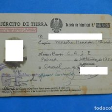 Militaria: CARNET / DOCUMENTO IDENTIFICATIVO. EJÉRCITO DE TIERRA. C.A.S.E. 1953, PALMA DE MALLORCA. BALEARES.. Lote 170992317