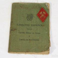 Militaria: CARTILLA MILITAR DE TROPA Y LIBRETA DE MOVILIZACIÓN DEL EJERCITO ESPAÑOL. Lote 171005442