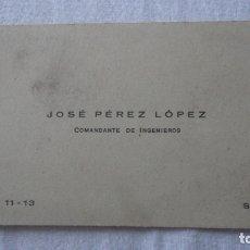 Militaria: ANTIGUA TARJETA PERSONAL.JOSE PEREZ LOPEZ.COMANDANTE INGENIEROS.SEVILLA. Lote 171273430