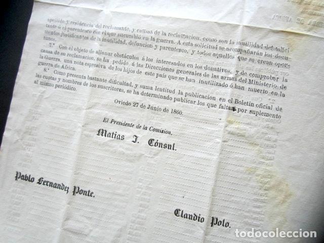 Militaria: AÑO 1960. OVIEDO. SUSCRIPCIÓN A FAVOR DE ASTURIANOS DE TROPA INUTILIZADOS EN GUERRA DE ÁFRICA. - Foto 4 - 171305132