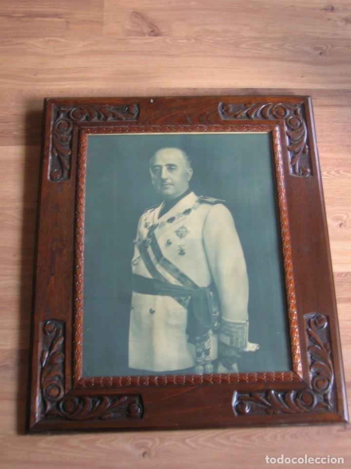 Militaria: EXCEPCIONAL RETRATO DEL CAUDILLO GENERALISIMO FRANCO. AÑOS 40. GRANDES DIMENSIONES. JERARCA. FALANGE - Foto 11 - 171748390