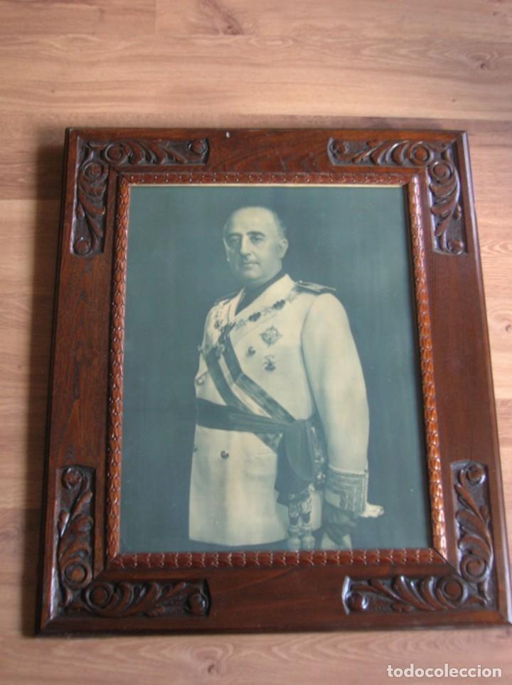 Militaria: EXCEPCIONAL RETRATO DEL CAUDILLO GENERALISIMO FRANCO. AÑOS 40. GRANDES DIMENSIONES. JERARCA. FALANGE - Foto 13 - 171748390
