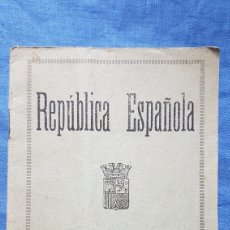 Militaria: PASAPORTE REPÚBLICA ESPAÑOLA. Lote 171753435