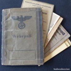 Militaria: MUY RARO. WEHRPASS HITLERJUGEND. CUATRO DOCUMENTOS DE LA HITLERJUGEND. 1944. Lote 172116343