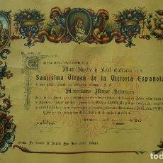 Militaria: NOMBRAMIENTO GENERAL COFRADÍA GRANADA GUERRA CIVIL . Lote 172118588