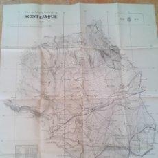 Militaria: AÑO 1951 - GRAN PLANO DEL CENTRO DE INSTRUCCION DE MONTEJAQUE (MALAGA) - 85 CM X 69 CM. Lote 172258094