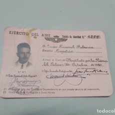 Militaria: TARJETA IDENTIDAD EJERCITO DEL AIRE,OFICIAL,1950. Lote 172259698