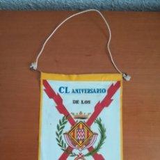 Militaria: BANDERÍN CL ANIVERSARIO SITIOS GERONA 1808-1809 BANDERA REGIMIENTO ULTONIA GUERRA DE INDEPENDÈNCIA. Lote 172765005