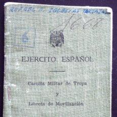 Militaria: CARTILLA MILITAR DE TROPA Y LIBRETA DE MOVILIZACIÓN DEL EJÉRCITO ESPAÑOL AÑO 1967 USADA . Lote 172840242