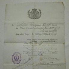 Militaria: PERMISO DE CASAMIENTO DE MILITAR.1928. Lote 172999215