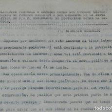 Militaria: (M) DIONISIO RIDRUEJO DOCUMENTACION A MÁQUINA, MADRID 1956 DECLARACION PERSONAL E INFORME SUCESOS . Lote 173118633