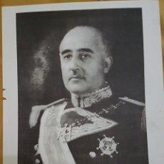 Militaria: LÁMINA DICTADOR FRANCO 1946. Lote 173231383