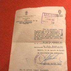 Militaria: MARINA MERCANTE SINDICATO PROVINCIAL DE FET Y JONS ASAMBLEA 1963 FRANQUISMO FALANGE. Lote 173483955