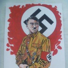 Militaria: UNIFORMOLOGIA - NACIONAL SOCIALISTA: LAMINA DE ADOLF HITLER . ACUARELA ORIGINAL. Lote 173877728