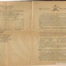 Militaria: REGIMIENTO DE INFANTERIA. ASIA, Nº 55. ORDEN GENERAL. BARCELONA, 16 AGOSTO 1921.(ST/C53). Lote 174061059