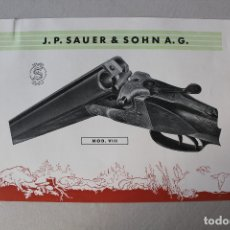 Militaria: ESCOPETA J.P. SAUER & SOHN A.G. MODELO VIII. Lote 174224250