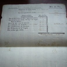 Militaria: HABERES RECIBIDOS POR UN CAPITÁN DEL EJÉRCITO ESPAÑOL EN EL AÑO 1779. Lote 174518033
