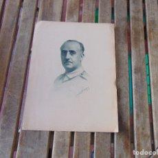 Militaria: LAMINA DE CUADRO O SIMILAR DE FRANCISCO FRANCO 1937 LITOGRAFIA ???. Lote 174969679
