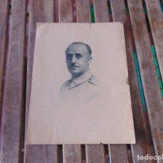 Militaria: LAMINA DE CUADRO O SIMILAR DE FRANCISCO FRANCO 1937 LITOGRAFIA ???. Lote 174969830