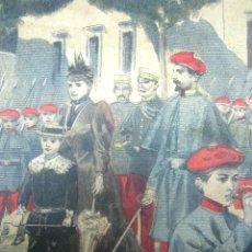 Militaria: BATALLON INFANTIL DE ALFONSO XIII - BELLA ILUSTRACION ORIGINAL DE EPOCA PRENSA FRANCIA. Lote 175062578