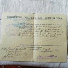 Militaria: PASAPORTE MILITAR. Lote 175107687