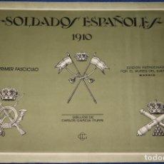 Militaria: SOLDADOS ESPAÑOLES 1910 - CARLOS GARCIA ITURRI - MUSEO DEL EJERCITO (1975). Lote 175154400