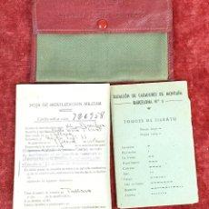 Militaria: CARTILLA MILITAR DE TROPA. DOCUMENTACION Y FUNDA ORIGINALES. 1946.. Lote 175183455